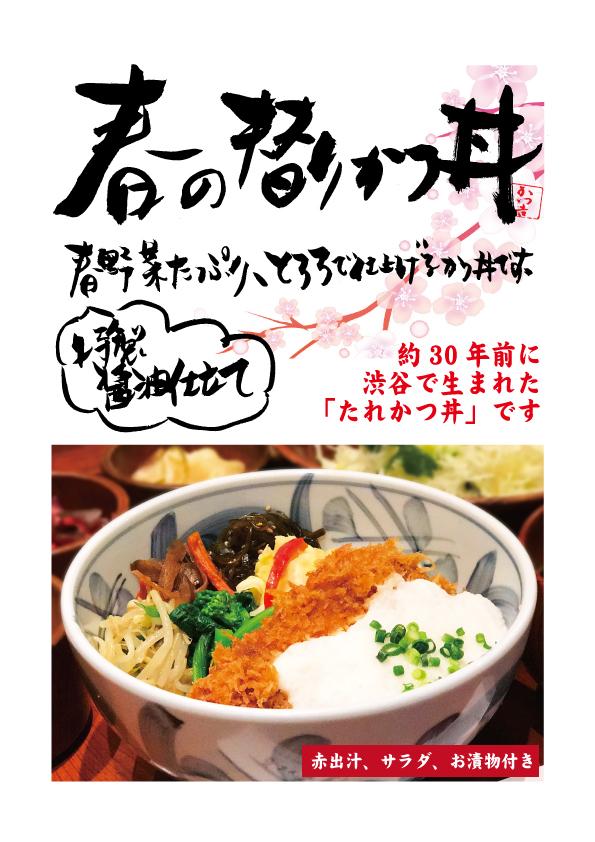春の替りかつ丼新丸2017(A4)価格無し