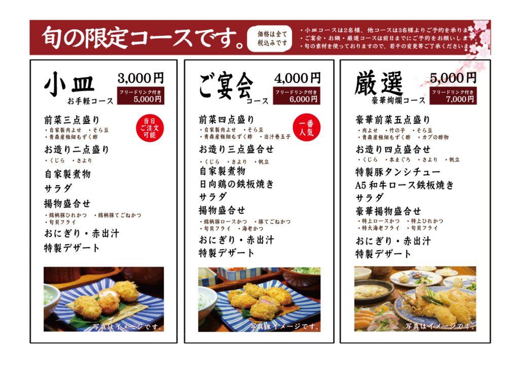 渋谷宴会メニュー2017内容